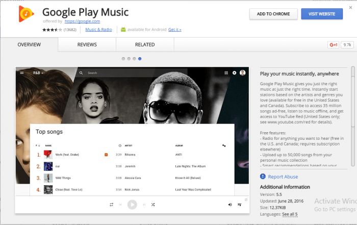 Google Play Music Download for Windows and Mac PC