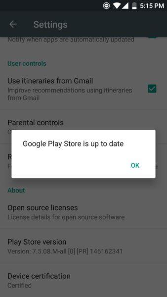 Google PlayStore Update
