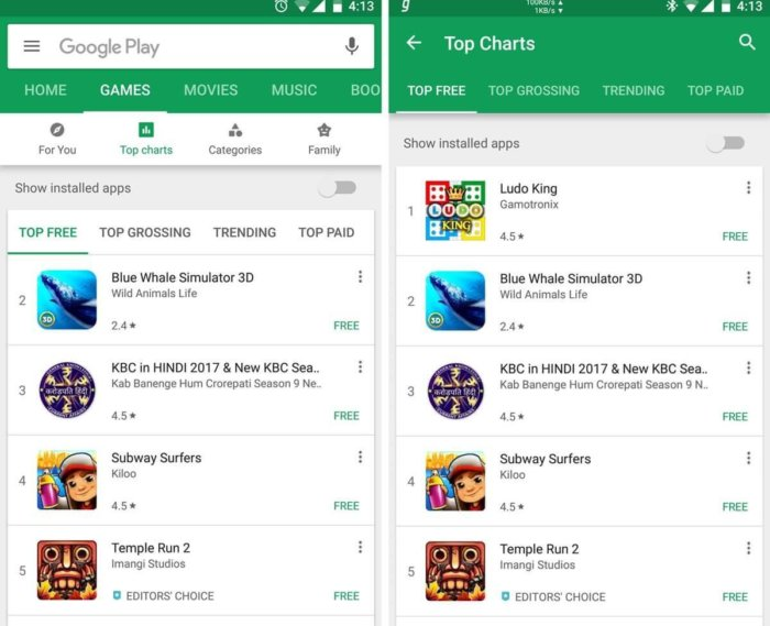 Google Play Store for Windows Phone